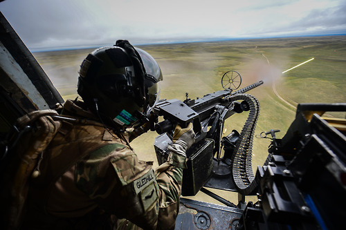 Lynx from 29 Flight providing supporting to 1 Yorkshire Regiment Battle group