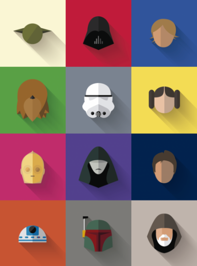 star-wars-icon-set-minimalist-poster-by-creativeflip-store-on-the-bazaar