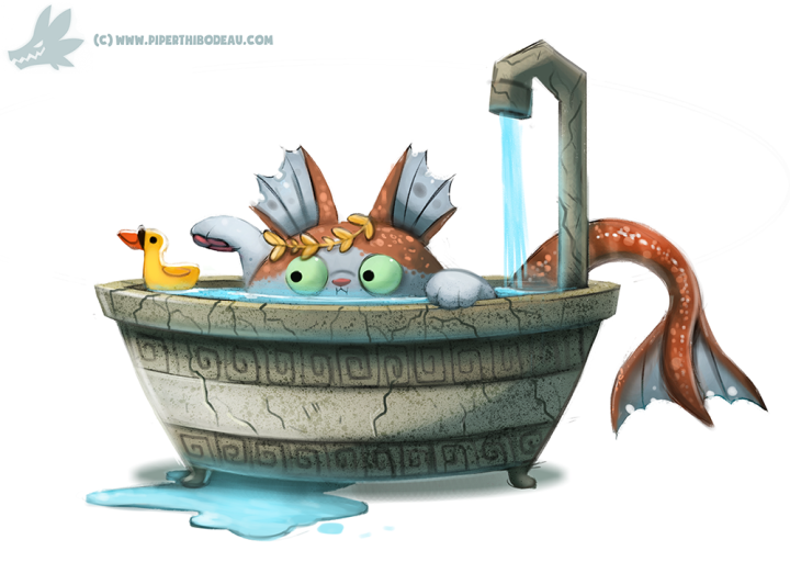 daily_paint__1034__poseidon_cat_by_cryptid_creations-d9acvt0