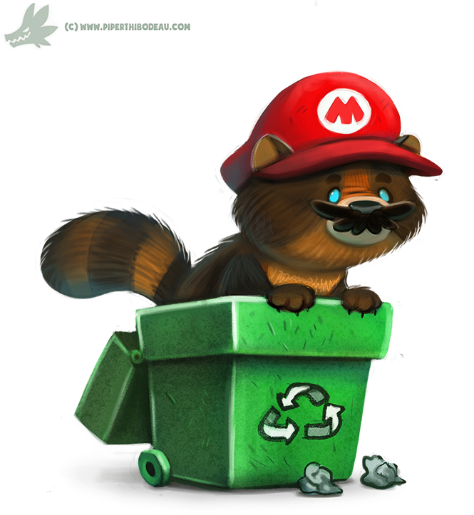 daily_paint__1041__tanooki_mario_by_cryptid_creations-d9b5zvt