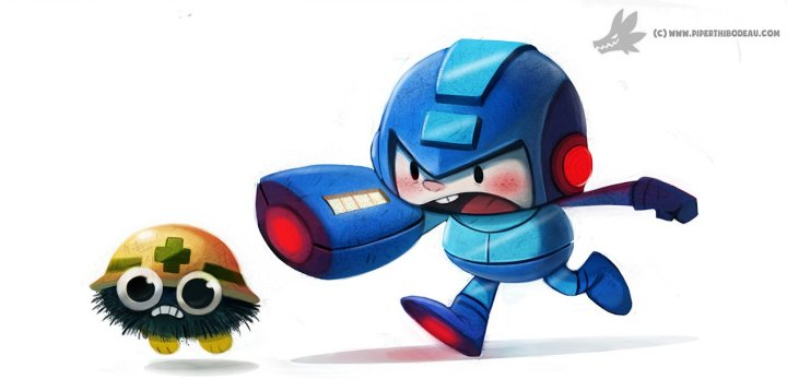 daily_painting_872__megaman_by_cryptid_creations-d8pdpd7