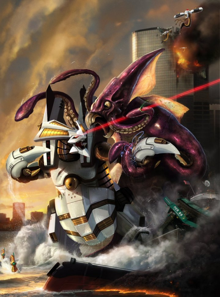 dino_robot_vs_kraken___by_adonihs